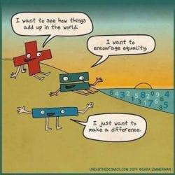 A mathematical cartoon joke