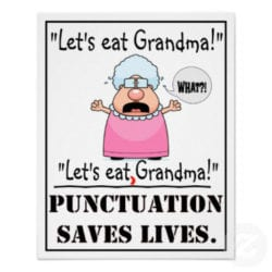 Don't Eat Grandma, punctuation saves lives