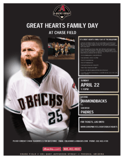 3rd Annual Great Hearts Family Day at the Diamondbacks
