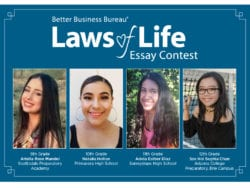 Better Business Bureau Winners of the Laws of Life Essay Contest
