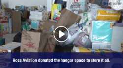 Ross Aviation's donation hangar space for Hurricane Harvey