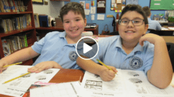 Students in a math-a-thon, which is a math endurance competition