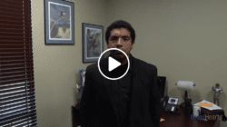 Noah Shakespeare standing in an office