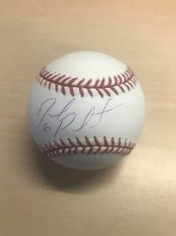 A signed baseball