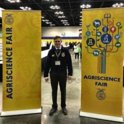 Trivium Prep FFA Student Cole Lozon Places Top 3 in National FFA Agriscience Fair