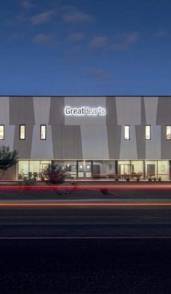 Great Hearts Academy building in Phoenix Arizona.