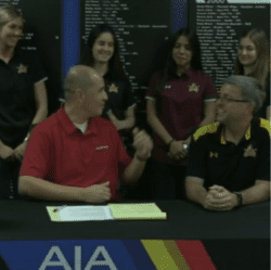 North Phoenix Prep volleyball team on AIA webcast