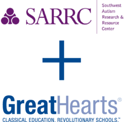 SARRC logo and Great Hearts logo