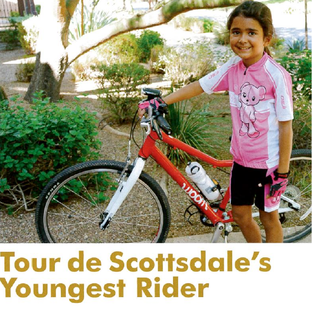 Ariana Dinu was the youngest rider in the Tour de Scottsdale