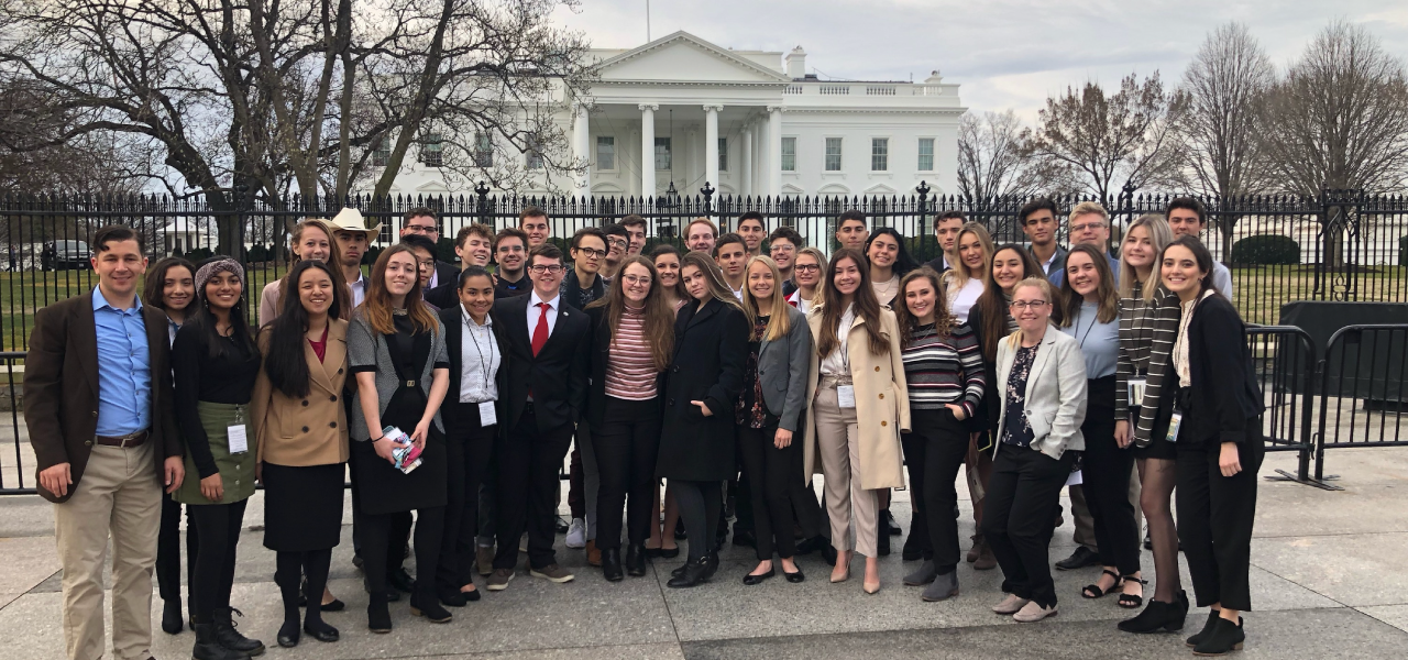 Great Hearts students at the White House