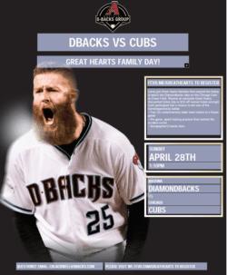 Cubs vs. Dbacks poster