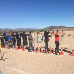 Arete Prep archery practice
