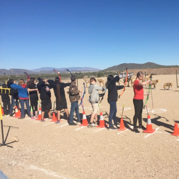 Members from the Arete Prep Advanced Archery team is headed to the National Competition
