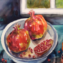 Pomegranite painting