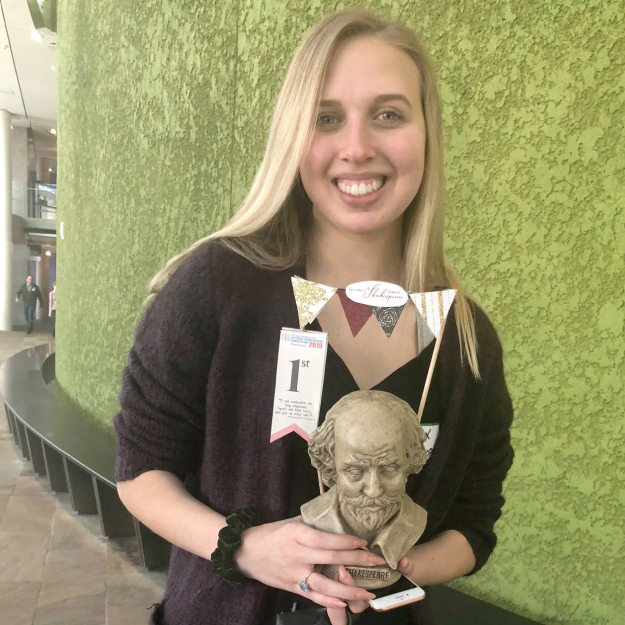 Veritas Preparatory student takes first place in the Quarter Finals of the English Speaking Union's National Shakespeare Competition