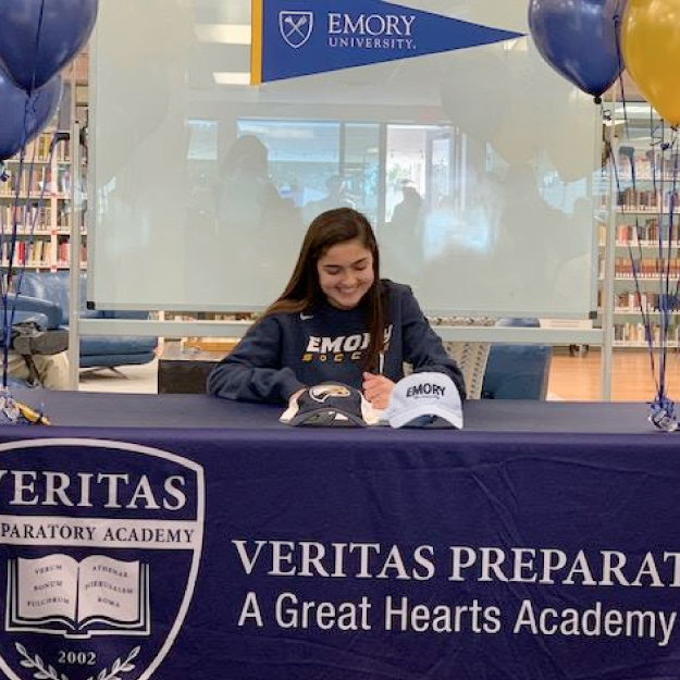 Veritas Prep senior signs her Letter of Intent