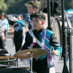 student in drumline