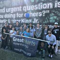 Great Hearts Monte Vista students at MLK march