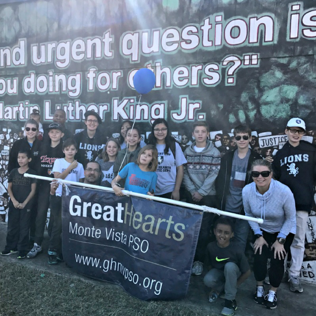 Representing Our Charter School at the San Antonio MLK March