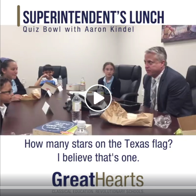 Great Hearts Texas Superintendent stops by Western Hills for lunch