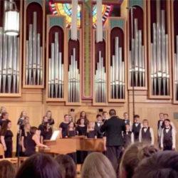 Veritas Prep middle school choir performance