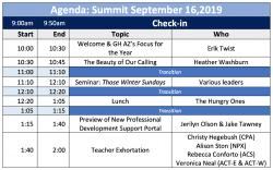 Summit Agenda 2019