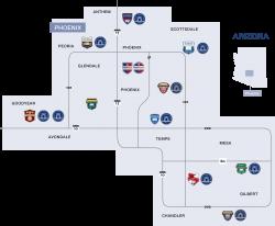 map of arizona schools