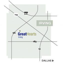 map of irving school