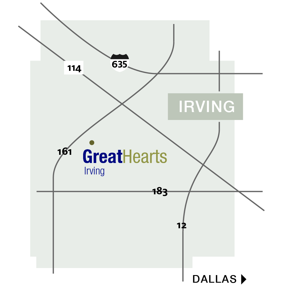 map of irving school