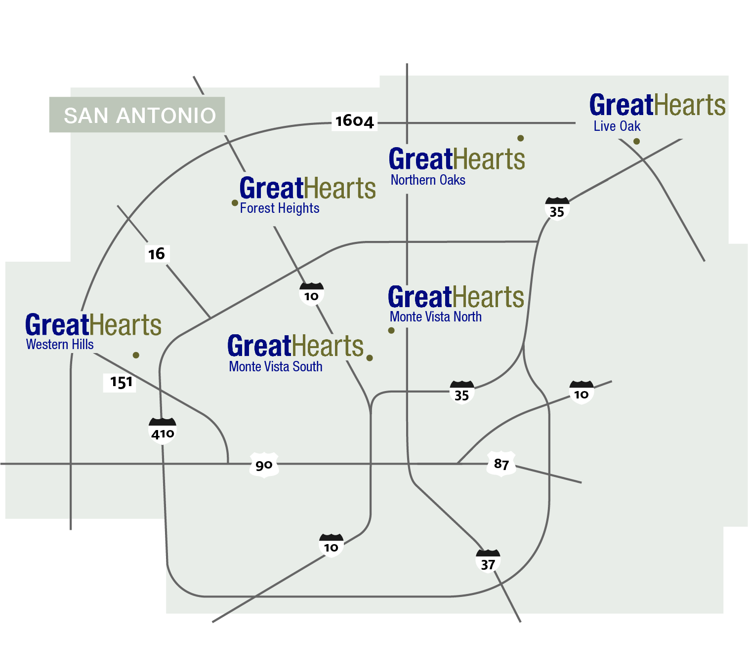 map of san antonio schools