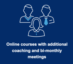 Online courses with additional coaching